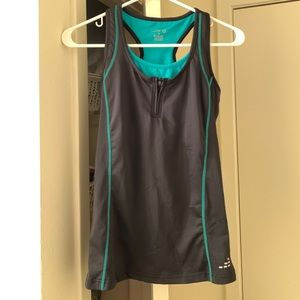 Workout tank bcg size small green and black